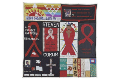 Parts of the American AIDS memorial quilt